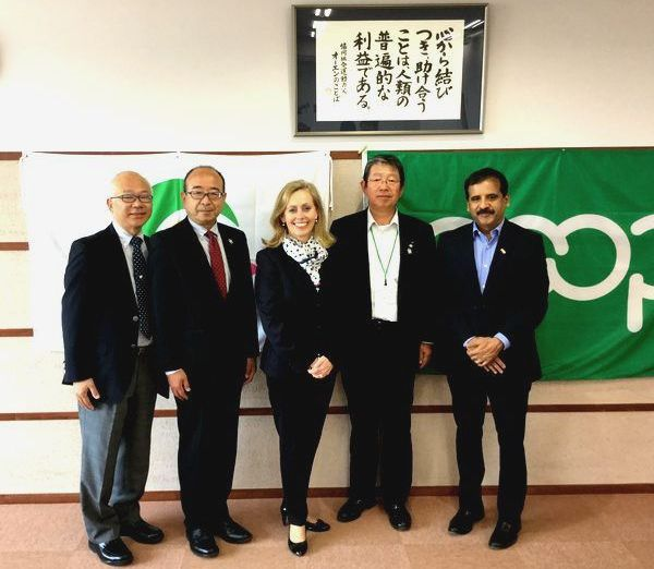 ICA President Ms. Monique Leroux visits Japan