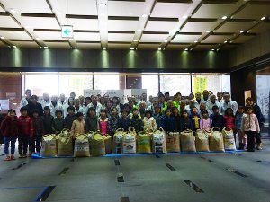 International cooperation rice joint shipping ceremony held
