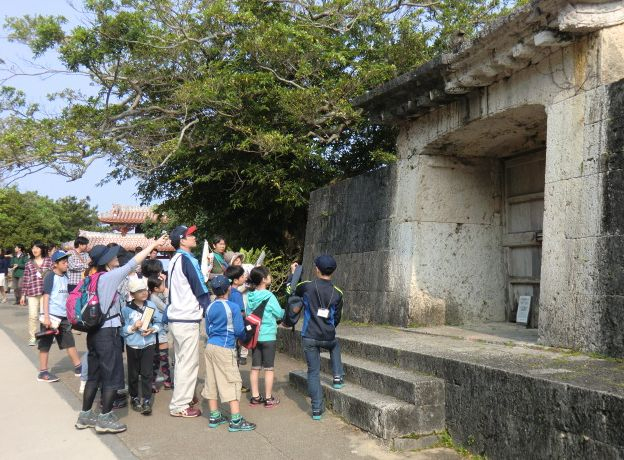 The 33rd Okinawa old battlefield / base tour held