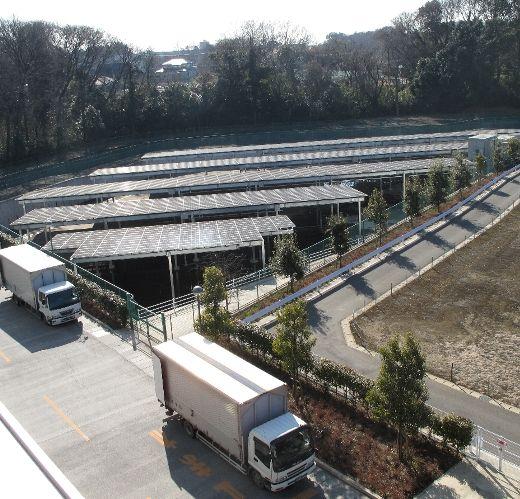 野田流通センター(千葉県野田市)の敷地に設置している太陽光発電パネル